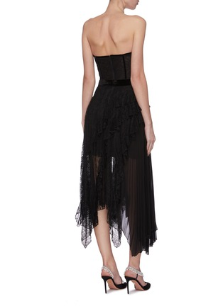 Back View - Click To Enlarge - ALICE + OLIVIA - 'Bree' belted asymmetric ruffle dress