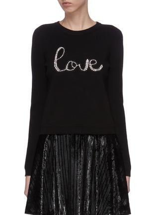 Main View - Click To Enlarge - ALICE + OLIVIA - 'Connie' slogan print sweatshirt
