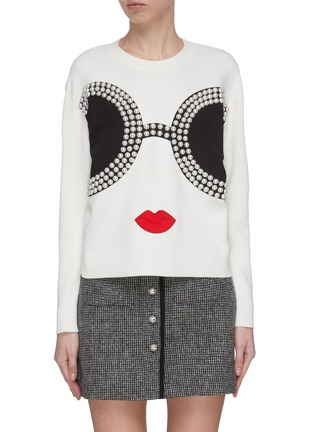 Main View - Click To Enlarge - ALICE + OLIVIA - 'Gleeson' Stace Face sweatshirt