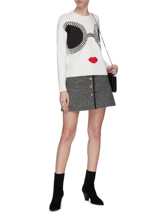 Figure View - Click To Enlarge - ALICE + OLIVIA - 'Gleeson' Stace Face sweatshirt