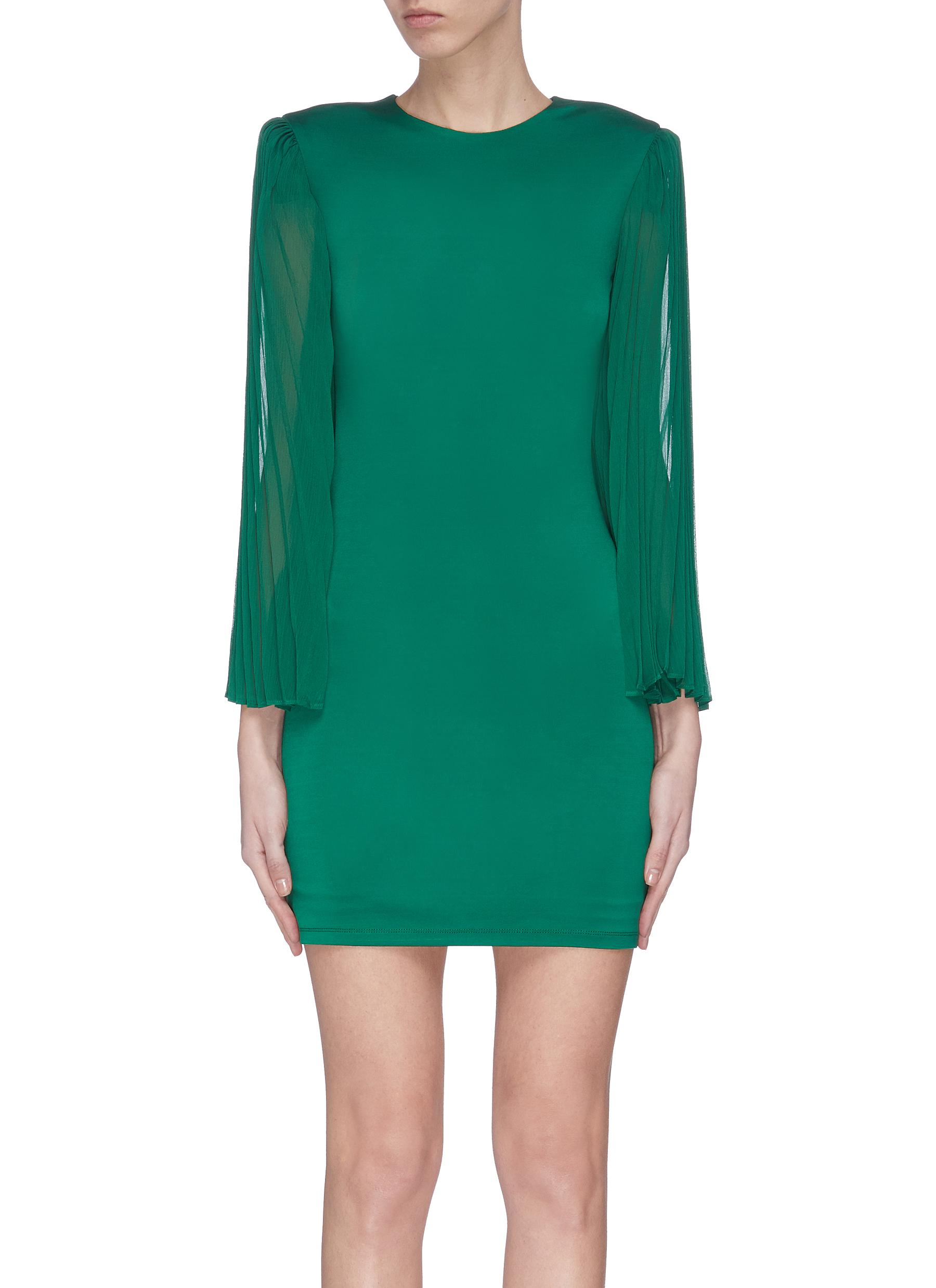 shop Alice + Olivia 'Zaya' pleated sleeve dress online