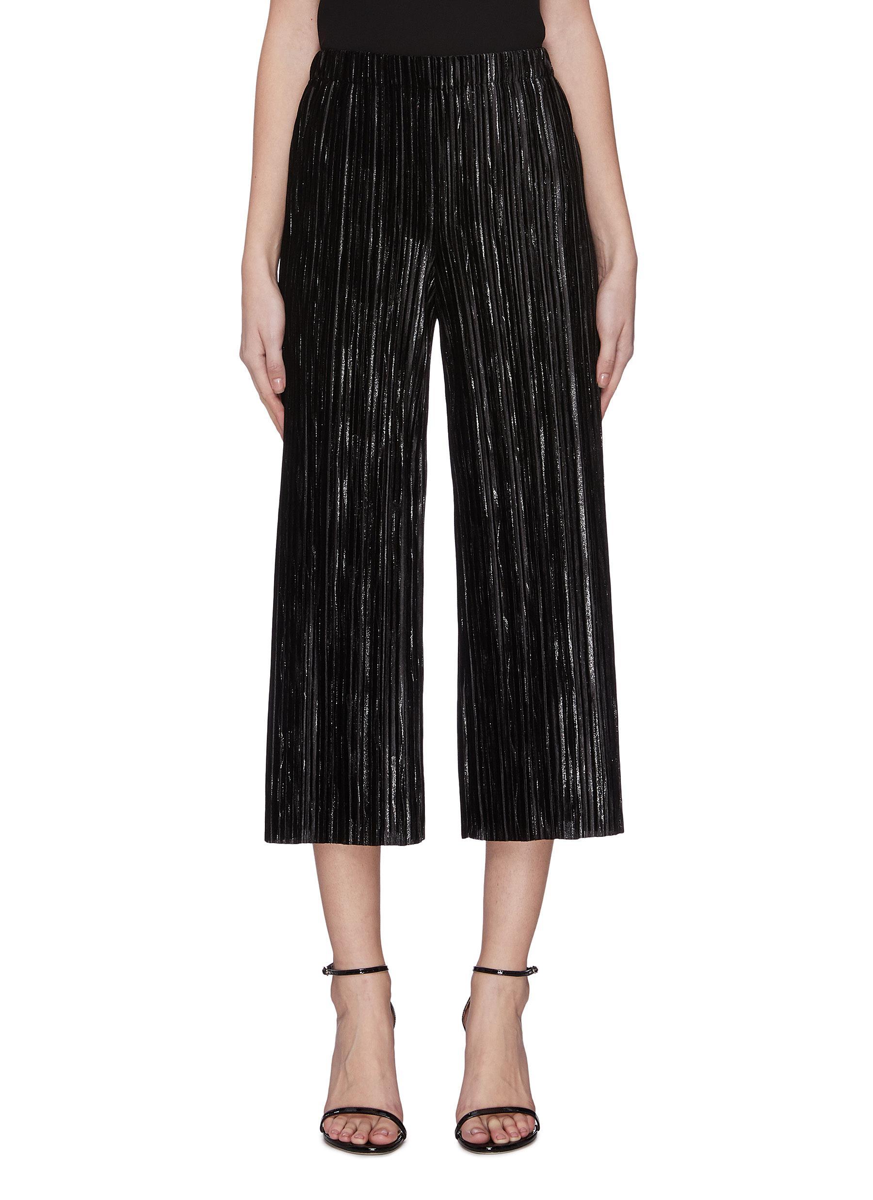 shop Alice + Olivia 'Elba' pleated crop pants online