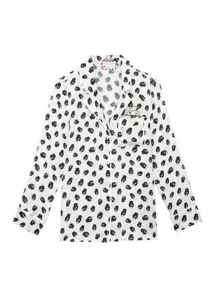 Main View - Click To Enlarge - ALICE + OLIVIA - x Morgan Lane 'Kier' Stace Face pajama top