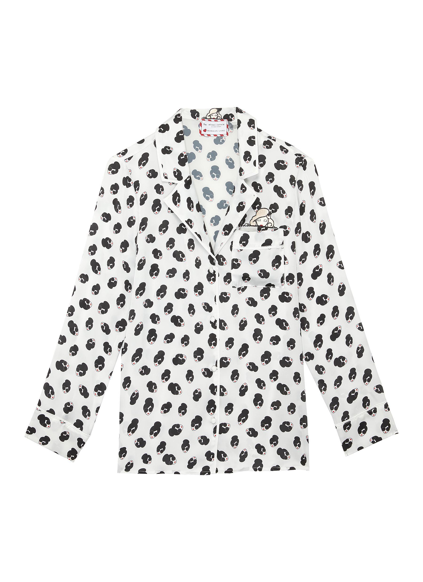 shop Alice + Olivia x Morgan Lane 'Kier' Stace Face pajama top online