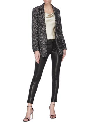 Figure View - Click To Enlarge - ALICE + OLIVIA - 'Jace' sequin embellished blazer