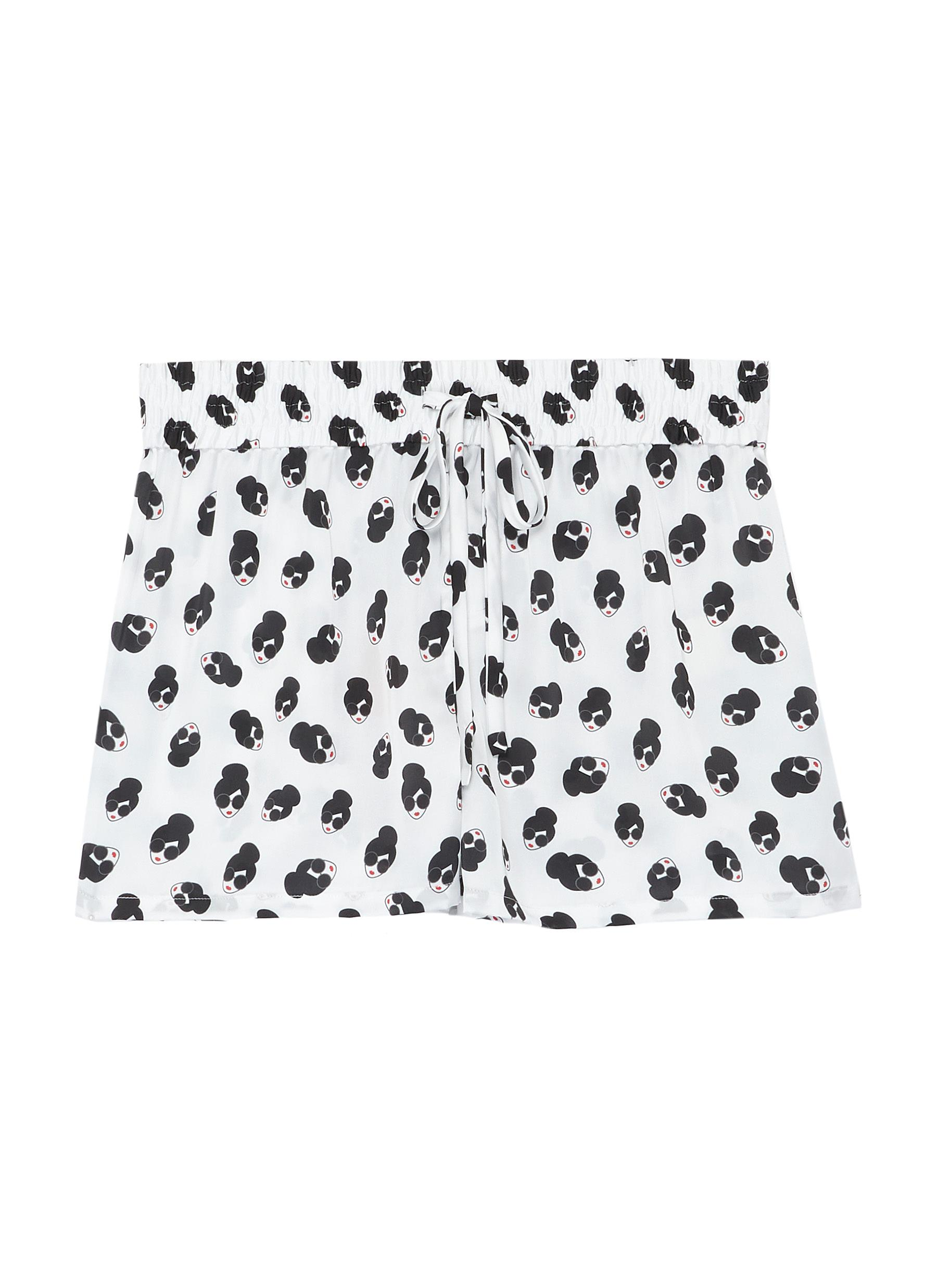 shop Alice + Olivia x Morgan Lane 'Kimber' Stace Face print pajama shorts online