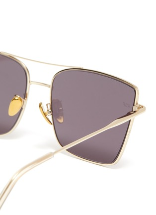 Detail View - Click To Enlarge - SUPER - Metal frame brow bar square sunglasses