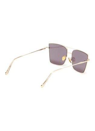 Figure View - Click To Enlarge - SUPER - Metal frame brow bar square sunglasses
