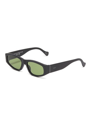 Main View - Click To Enlarge - SUPER - Acetate oval frame sunglasses
