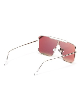 Figure View - Click To Enlarge - SUPER - Metal frame brow bar cutout oversized square sunglasses