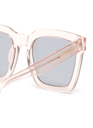 Detail View - Click To Enlarge - SUPER - Clear acetate frame square sunglasses