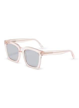 Main View - Click To Enlarge - SUPER - Clear acetate frame square sunglasses