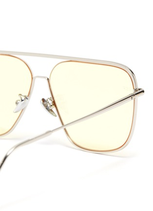 Detail View - Click To Enlarge - SUPER - Metal frame brow bar squared sunglasses