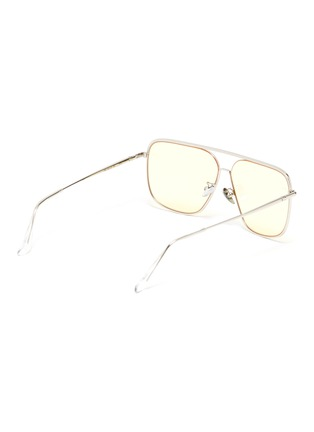 Figure View - Click To Enlarge - SUPER - Metal frame brow bar squared sunglasses