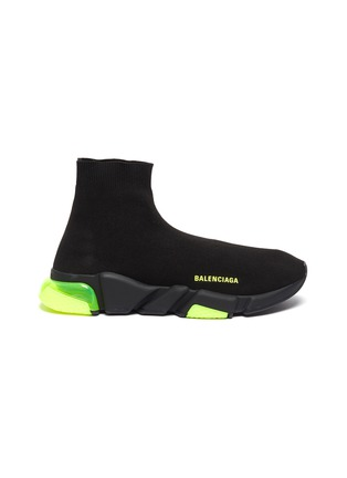 Main View - Click To Enlarge - BALENCIAGA - Speed' vapour sole knit slip-on sneakers