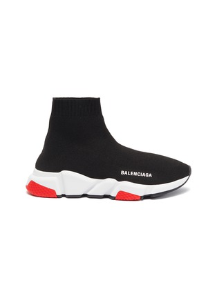 Main View - Click To Enlarge - BALENCIAGA - 'Speed' knit slip-on sneakers