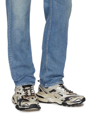 Figure View - Click To Enlarge - BALENCIAGA - 'Track 2.' caged patchwork sneakers