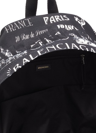 Detail View - Click To Enlarge - BALENCIAGA - 'Wheel Paris' logo print backpack