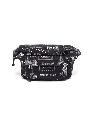 Main View - Click To Enlarge - BALENCIAGA - 'Wheel Paris' logo print waistbag