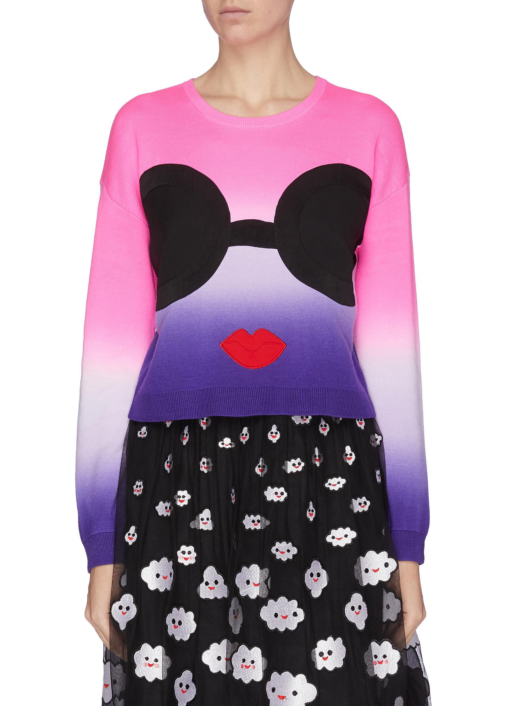 Buy Alice + Olivia Knitwear 'Lenna' Stace face tie dye wool blend sweatshirt