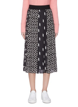 Main View - Click To Enlarge - ALICE + OLIVIA - 'Melda' mix print panel skirt