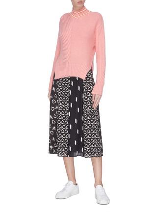 Figure View - Click To Enlarge - ALICE + OLIVIA - 'Melda' mix print panel skirt