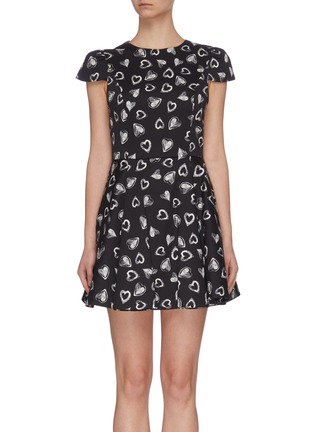 Main View - Click To Enlarge - ALICE + OLIVIA - x FriendsWithYou 'Stasia' heart print dress