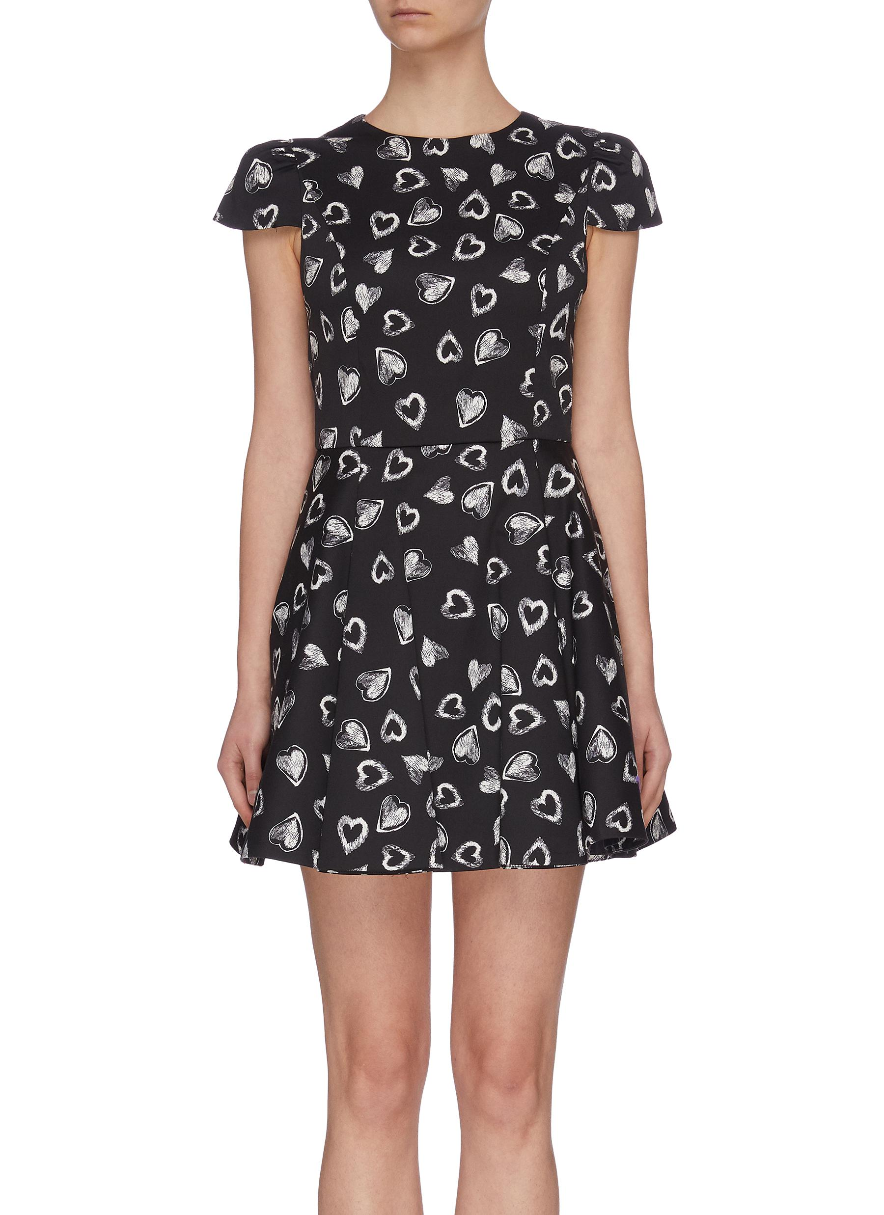 shop Alice + Olivia x FriendsWithYou 'Stasia' heart print dress online