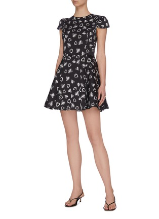 Figure View - Click To Enlarge - ALICE + OLIVIA - x FriendsWithYou 'Stasia' heart print dress