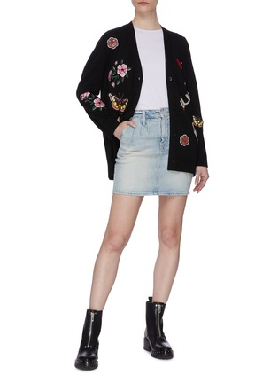 Figure View - Click To Enlarge - ALICE + OLIVIA - Floral collage sleeveless knit top