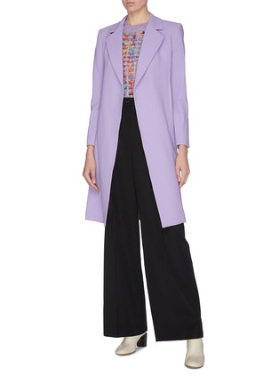 Figure View - Click To Enlarge - ALICE + OLIVIA - 'Irwin' notch lapel belted long coat