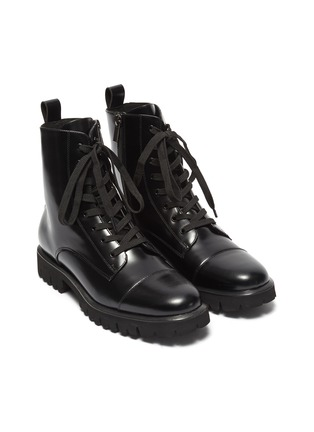 Detail View - Click To Enlarge - PEDDER RED - 'Kace' leather combat boots