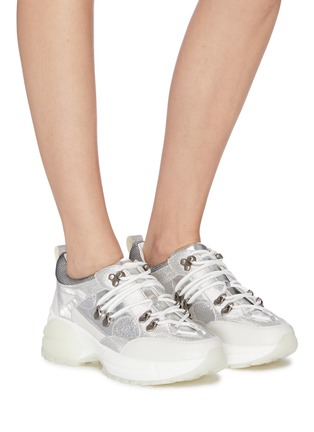 Figure View - Click To Enlarge - PEDDER RED - 'Mia' patchwork chunky sneakers