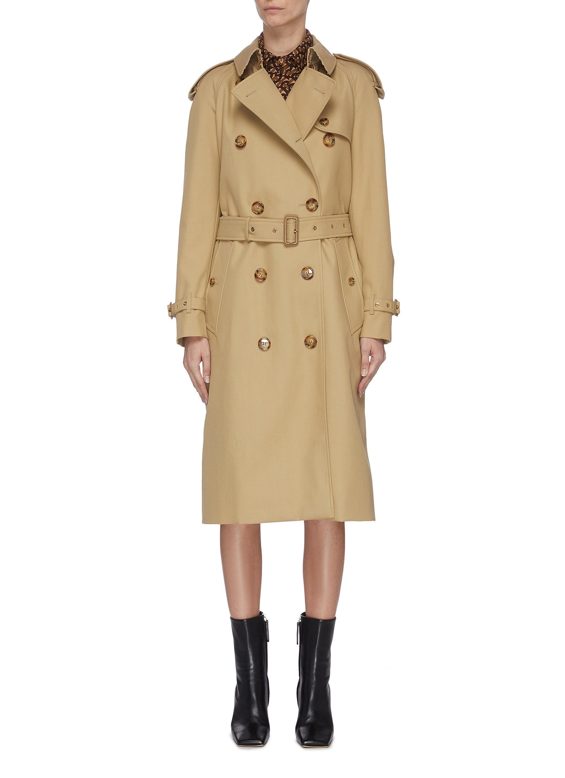 shop Burberry Double breast trench coat online