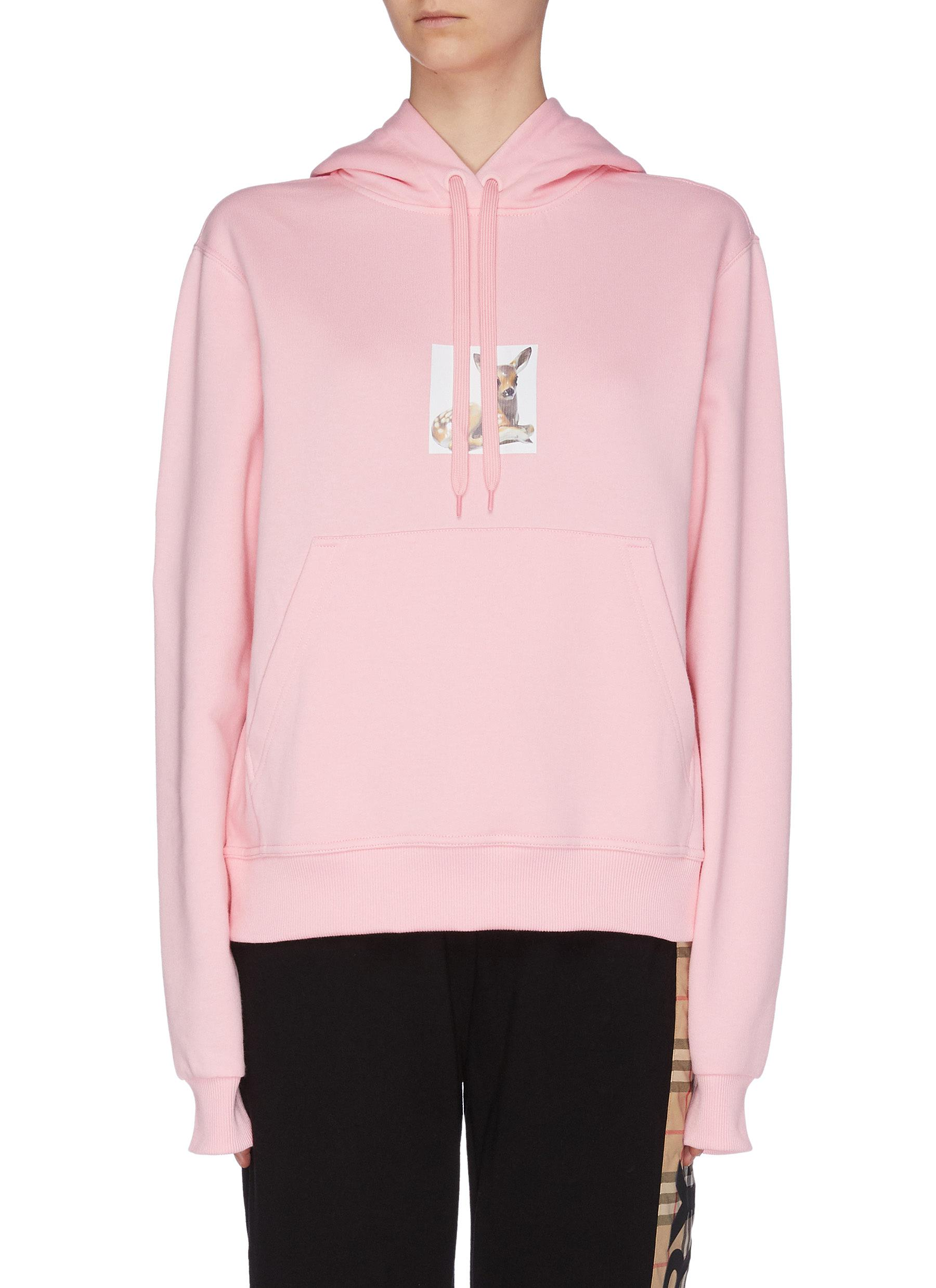 Buy Burberry Tops 'Bambi' graphic print hoodie
