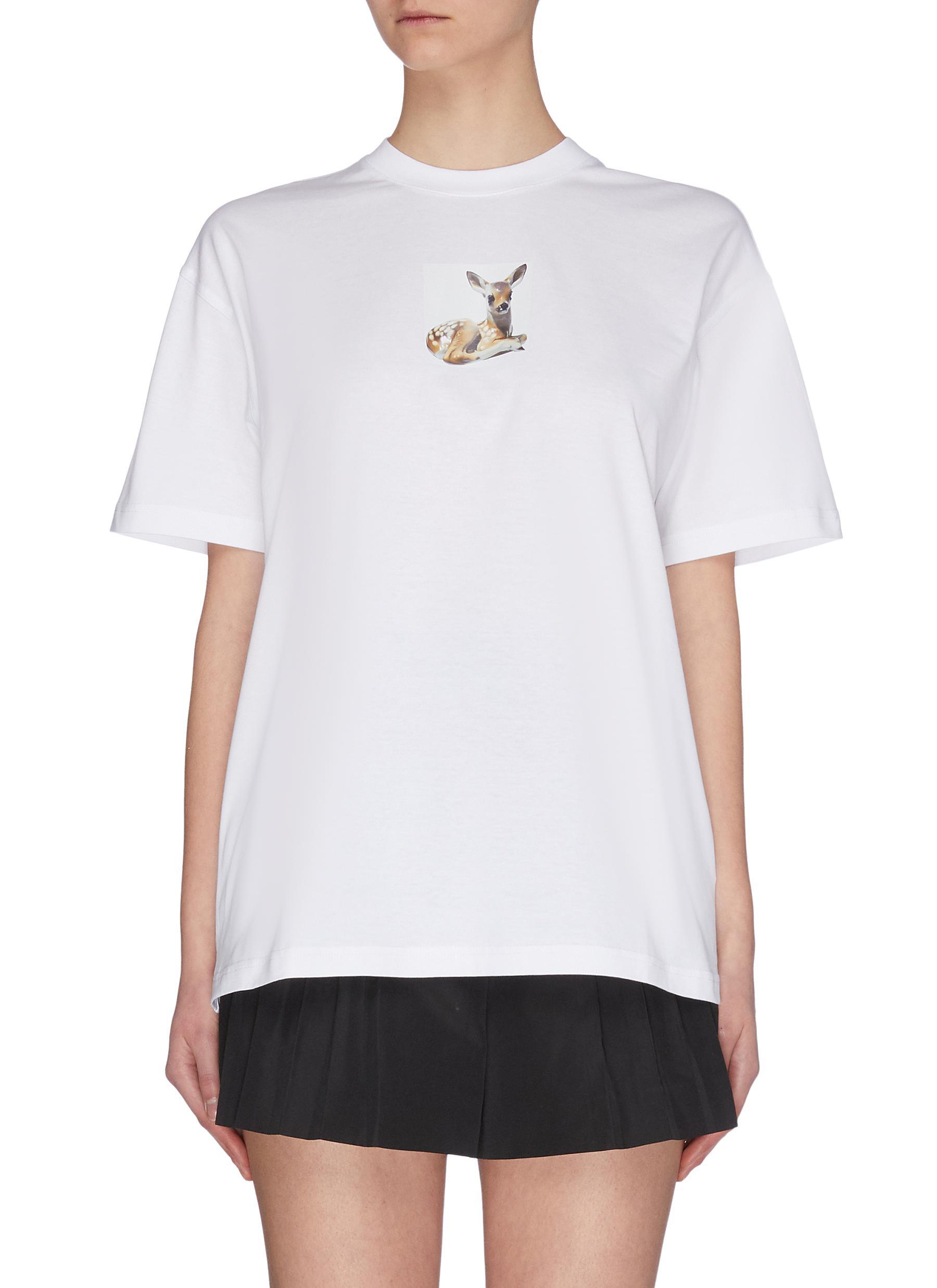 Buy Burberry Tops 'Bambi' graphic print T-shirt