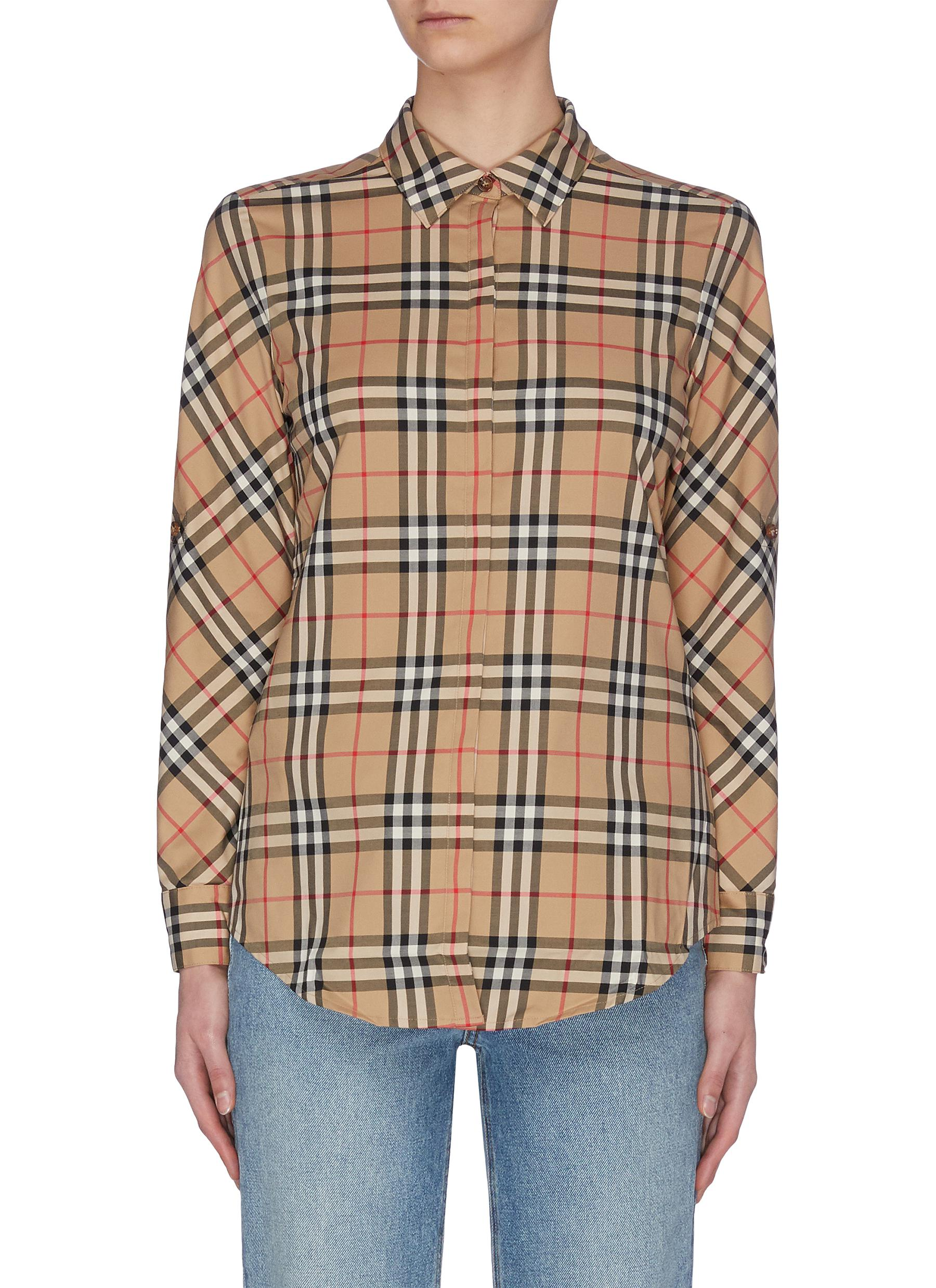 Buy Burberry Tops 'Archive' check shirt