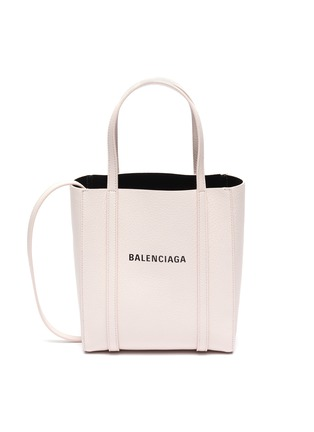 Main View - Click To Enlarge - BALENCIAGA - 'Everyday' XXS logo leather tote