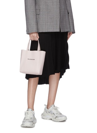 Figure View - Click To Enlarge - BALENCIAGA - 'Everyday' XXS logo leather tote