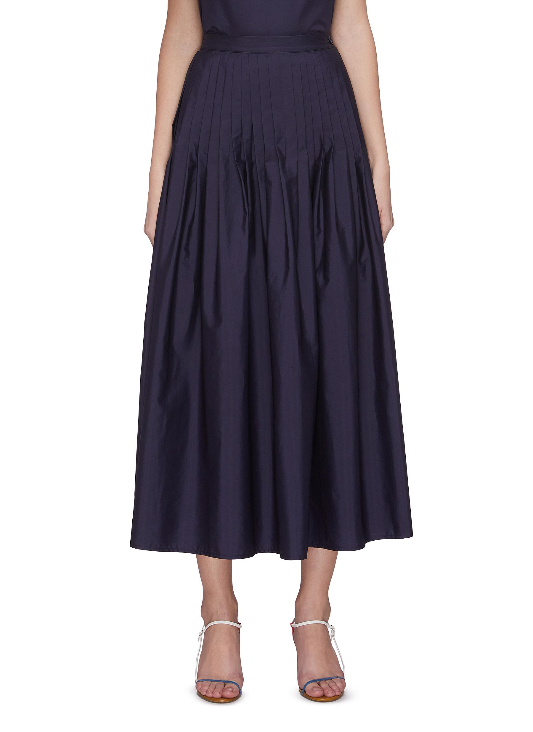 Buy Barena Skirts 'Camelia' pleated maxi skirt