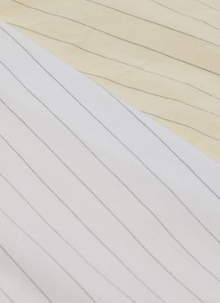 - BARENA - 'Arpa' Collaged Pinstripe A-line Midi Skirt