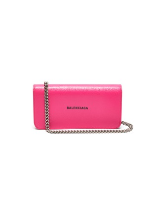 Main View - Click To Enlarge - BALENCIAGA - 'Cash Continental' chained leather wallet
