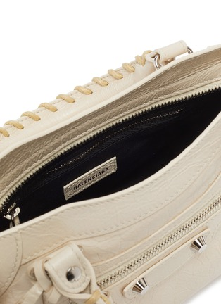 Detail View - Click To Enlarge - BALENCIAGA - 'Classic City' logo strap mini leather shoulder bag