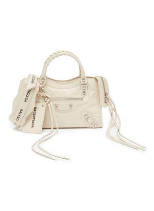 Main View - Click To Enlarge - BALENCIAGA - 'Classic City' logo strap mini leather shoulder bag