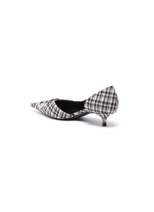 - BALENCIAGA - D'Orsay' BB logo embellished check  pumps