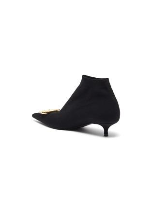 - BALENCIAGA - 'Knife' BB logo embellished knit ankle boots