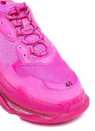 Detail View - Click To Enlarge - BALENCIAGA - 'Triple S Clear Sole' sneakers