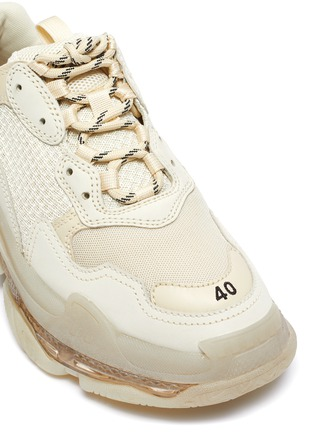 Detail View - Click To Enlarge - BALENCIAGA - 'Triple S' stack midsole clear sole sneakers