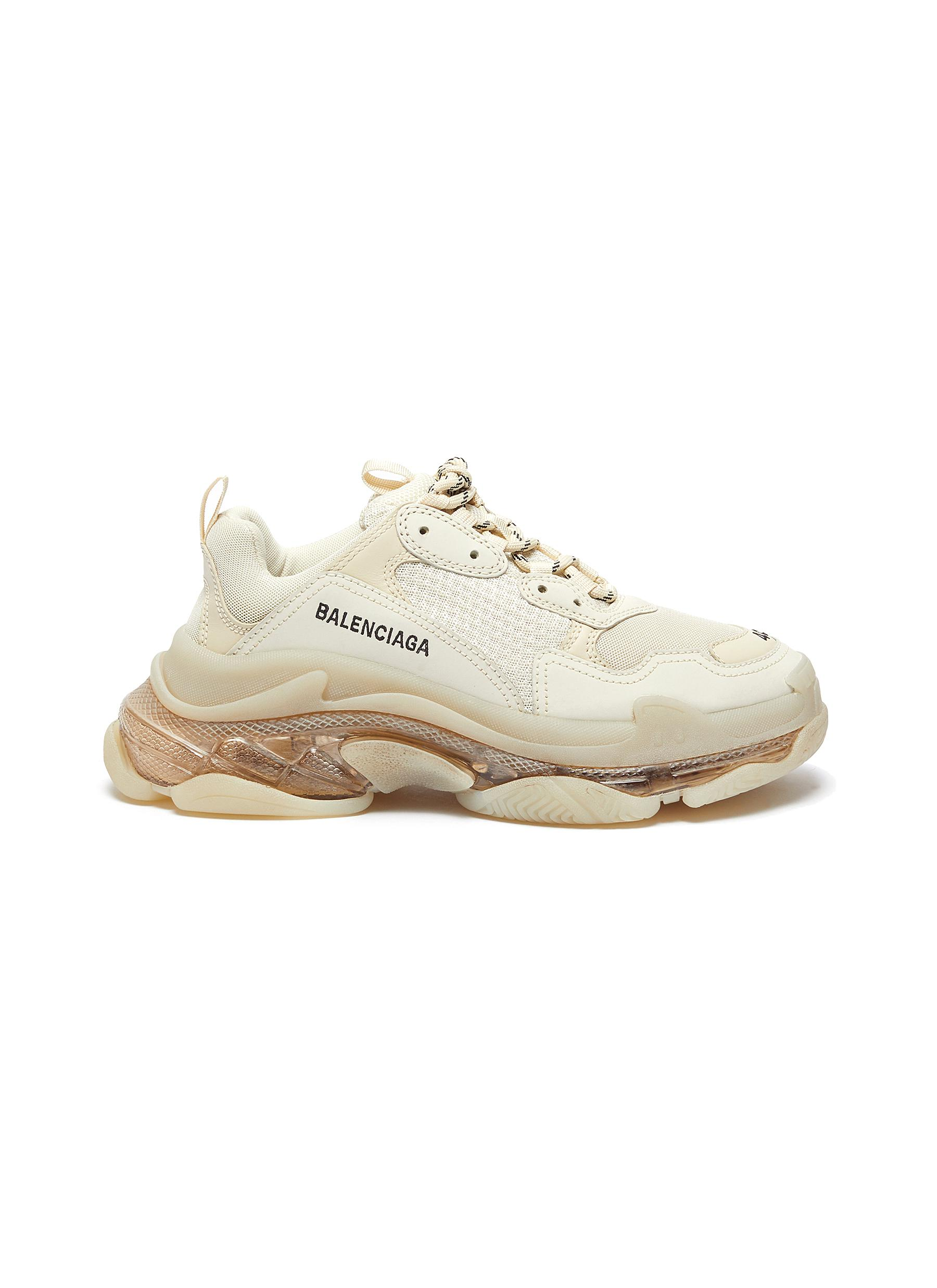 Triple S' stack midsole clear sole