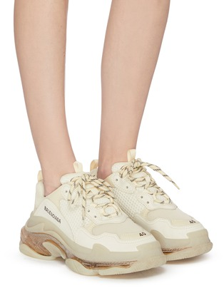 Figure View - Click To Enlarge - BALENCIAGA - 'Triple S' stack midsole clear sole sneakers